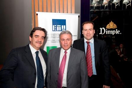 Ο Νομάρχης Θεσσαλονίκης κ.Π.Ψωμιάδης με τον πρόεδρο της ΔΕ Δρ.Π.Κετικίδη και τον πρώην πρόεδρο κ.Χ.Πατεράκη